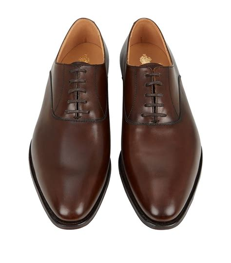 oxford shoes boots lyst crockett and jones wembley oxford shoe in brown for