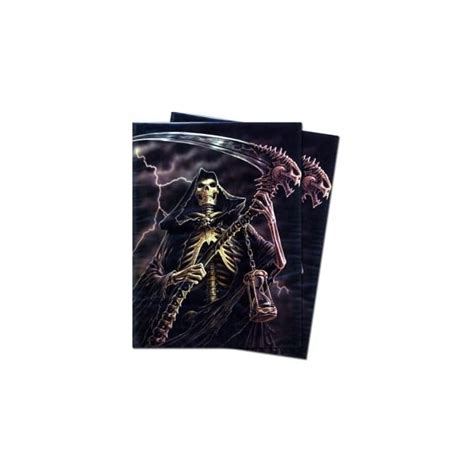 Max Standard Sleeves Brown Card Sleeve 50ct max protection grim reaper deck protectors 50ct accessories from magic madhouse uk