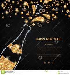 happy new year 2016 greeting card with chagne stock vector image 60118170