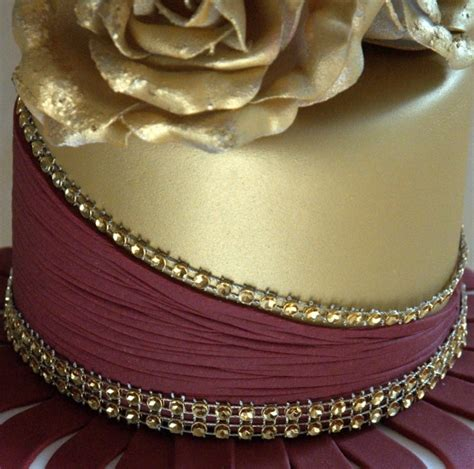 wedding themes gold and burgundy gold and burgundy wedding cake with ruffles and roses