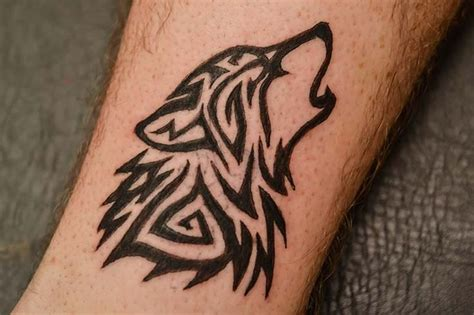 small tribal wolf tattoo simple wolf tattoos www imgkid the image kid has it