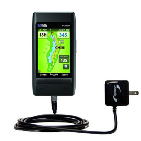 golf buddy charger gomadic car and wall charger essential kit suitable for