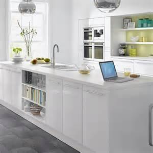 White gloss kitchen from b amp q budget kitchens kitchens photo