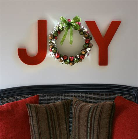 Handmade Craft Store - painted letters from a craft store and a handmade wreath