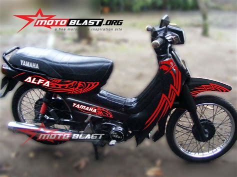 Striping Yamaha Fizr 2004 Merahputih dapurpacu2016 1 modifikasi images