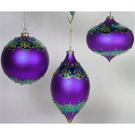 purple christmas ornaments purple christmas pinterest