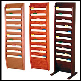 file folder wall rack 10 pocket wall file holders or floor standing wooden file holder