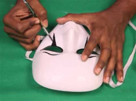 How To Make Scary Masks Out Of Paper - how to make a mask