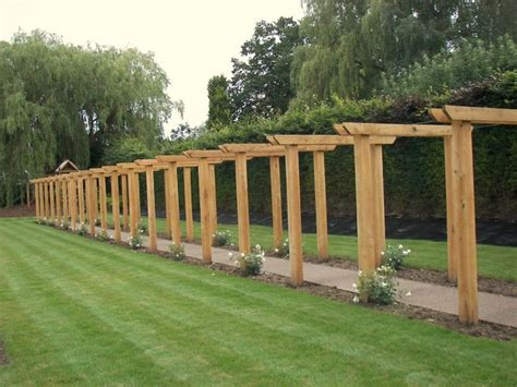 arbours and pergolas oak pergola