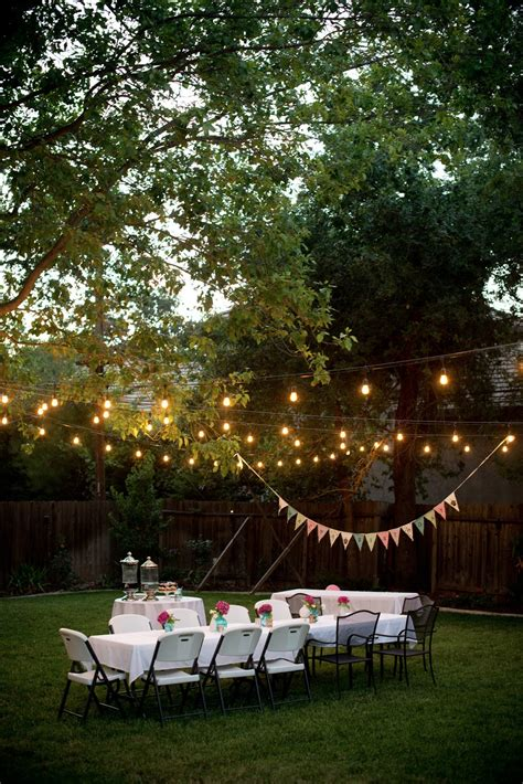 backyard lighting for a party domestic fashionista backyard birthday fun pink