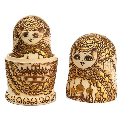 Handmade Russian Nesting Dolls - 7pcs russian nesting dolls traditional wooden handmade