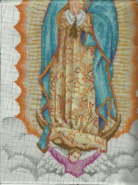 imagenes de virgen de guadalupe en punto cruz patrones en punto de cruz de la virgen de guadalupe