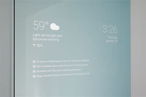 smart bathroom mirror this home made smart mirror that runs google now is the