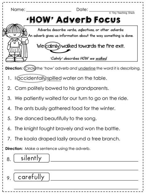 Adverbs 2nd Grade Worksheets by The 25 Best Adverbs Ideas On Noun Chart