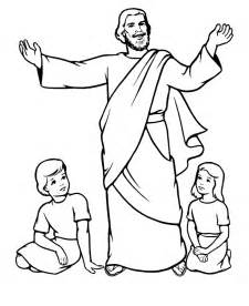 jesus coloring page coloring pages of jesus with children coloring home
