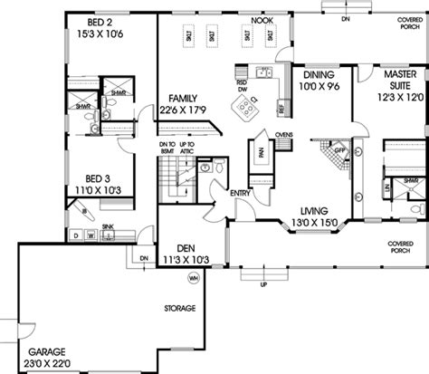 westfield 2194 square foot two story floor plan ranch style house plans 2194 square foot home 1 story