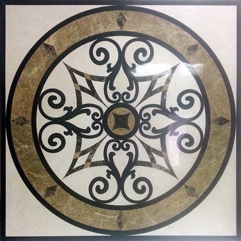 Marble Medallions For Floors 24 quot square marble and granite floor medallion