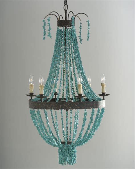 turquoise chandelier andrew design turquoise 6 light chandelier