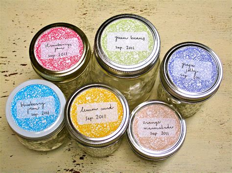 canning jar labels