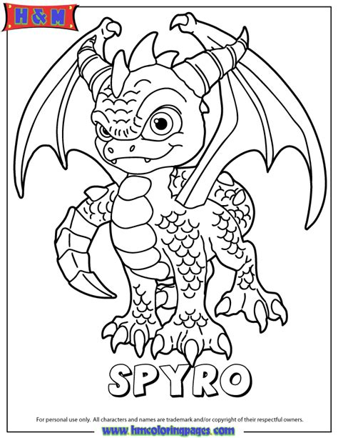 coloring pages of spyro the dragon skylanders spyros adventure magic series1 spyro coloring