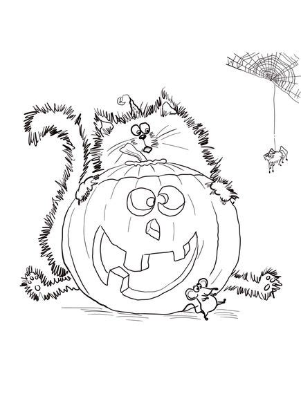 Scaredy Cat Splat Coloring Page Pre K Library Splat The Cat Coloring Page