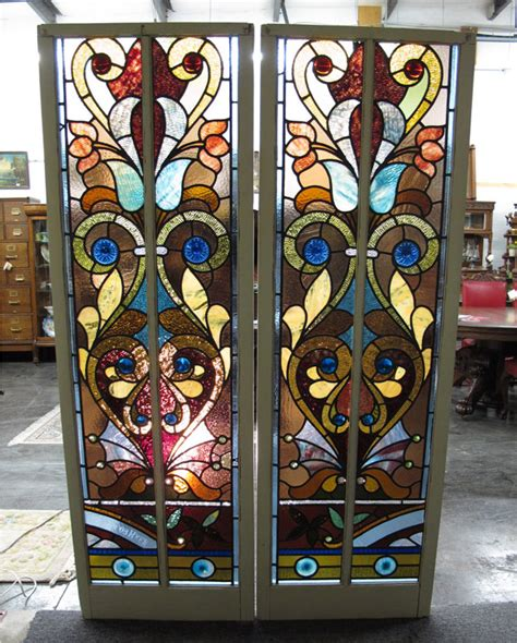 Antique Stained Glass Doors For Sale Antique Furniture Stained Glass Door For Sale