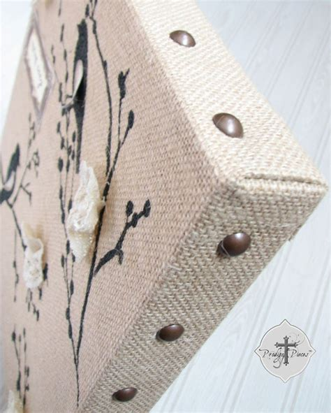 upholstery tacks michaels 25 best ideas about burlap canvas art on pinterest