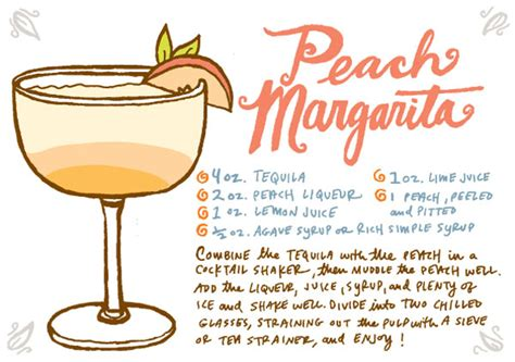 cocktail recipe cards friday happy hour a peach