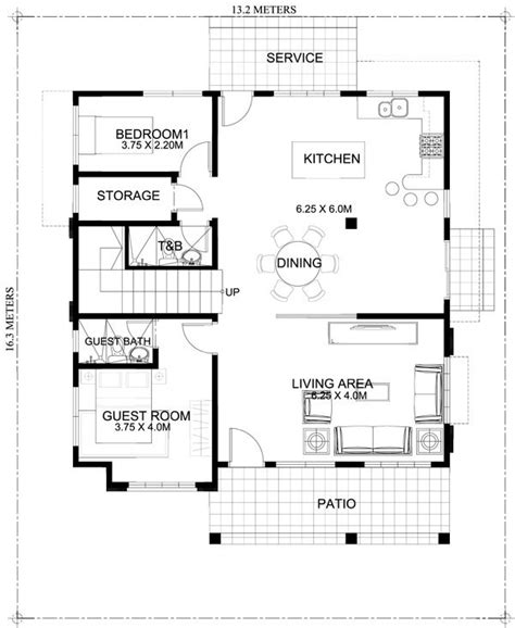 2 bedroom ground floor plan 50 images of 15 two storey modern houses with floor plans