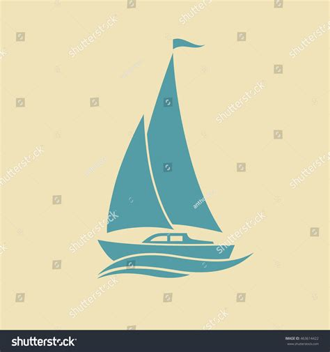 sailboat icon free vector sailboat vector icon stock vector 463614422 shutterstock