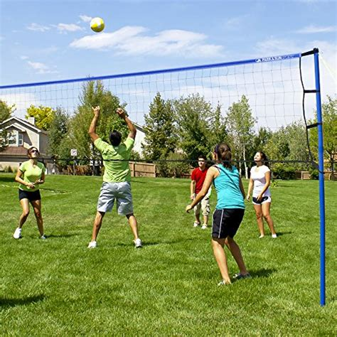 backyard volleyball net park sun sports portable outdoor volleyball net system