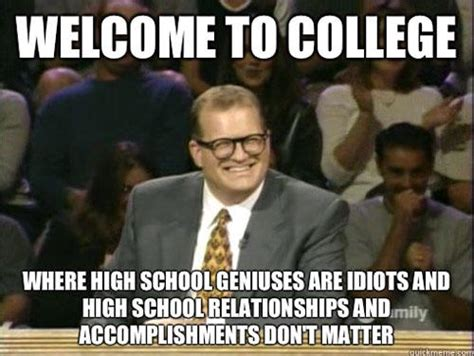 Memes College - welcome to college funny school meme