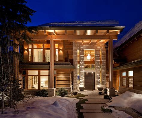 luxury timber frame mountain retreat  whistler