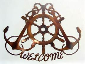 ships wheel crossed anchors wall tropical or