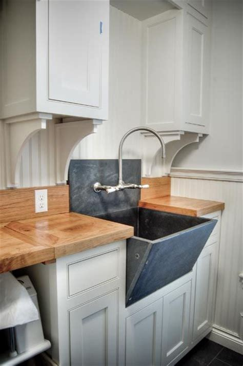 Slate Sink   Cottage   laundry room   Gulf Shore Design