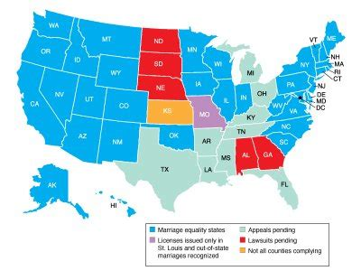 united states marriage map marriage rights in the united states