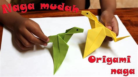 cara mudah membuat origami naga cara membuat origami naga bersayap mudah dari kertas lipat