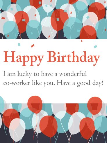 Happy Birthday Co Worker Card To My Favorite Co Worker Happy Birthday Card Birthday