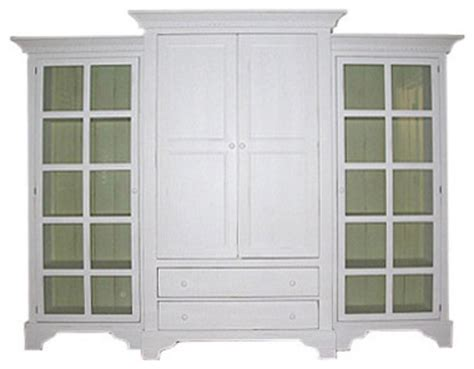 Bookshelf Armoire by Coastal Style White Bookcases And Armoires Decoration News