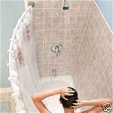 Shower Curtain Tension Rod Instructions Amazon Com Curved Shower Rod Aluminum Adjustable 36 5