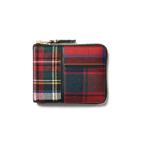 wallet tartan tartan patchwork small zip wallet