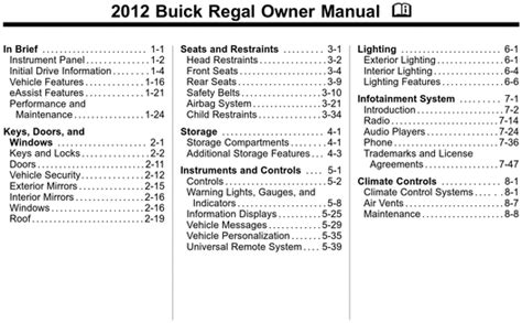 service manuals schematics 2012 buick regal engine control 2012 buick regal owners manual download manuals technical autos post