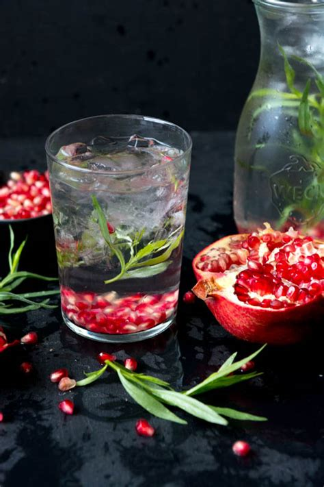 Pomegranate Detox Water Benefits by Pomegranate Tarragon Detox Water Scaling Back