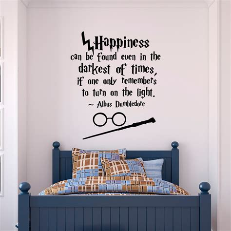 harry potter wall stickers harry potter wall decal quote happiness can be found even