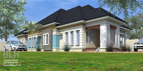 Architectural Designs By Blacklakehouse 4 Bedroom Bungalow Architectural Designs For 3 Bedroom Houses
