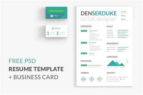 template cv tku card free resume business card free design resources