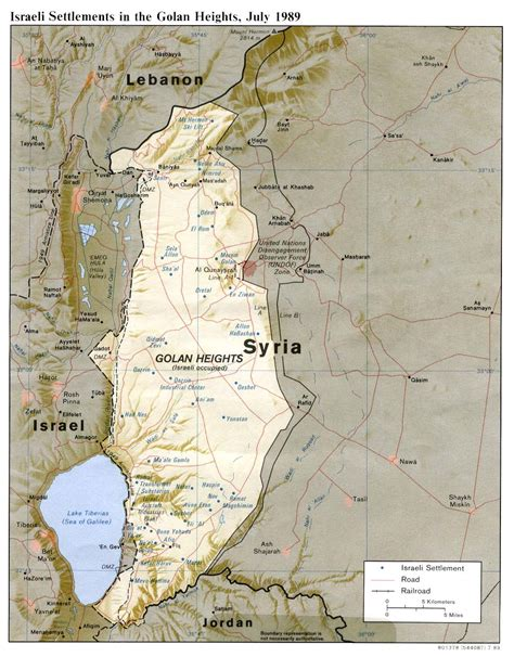 middle east map golan heights syria maps perry casta 241 eda map collection ut library