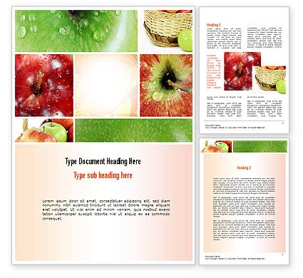 apple collage word template poweredtemplate com