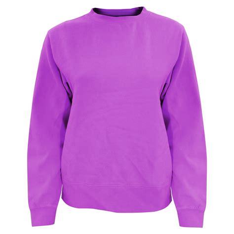 comfort colors crewneck sweatshirt comfort colors womens ladies crew neck sweatshirt ebay