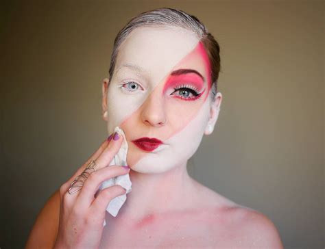Makeup Faced Artist S Fanciful Paint Transformations Bend Reality